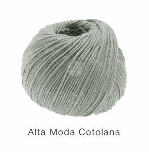 Hilado de lana y algodón Cotolana Lana Grossa 50 g Color 9 Gris verdoso