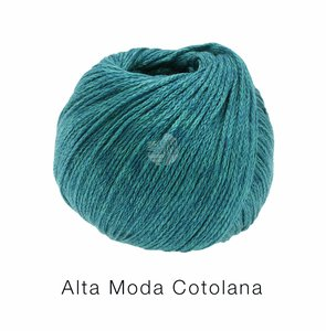 Hilado de lana y algodón Cotolana Lana Grossa 50 g Color 13 Azul petróleo