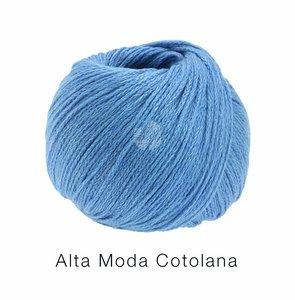 Hilado de lana y algodón Cotolana Lana Grossa 50 g Color 15 Azul