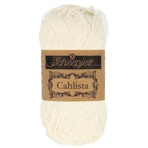 Hilo de algodón Scheepjes Cahlista 105 Bridal White