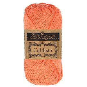 Hilo de algodón Scheepjes Cahlista 410 Rich Coral