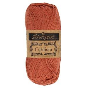 Hilo de algodón Scheepjes Cahlista 504 Brick Red