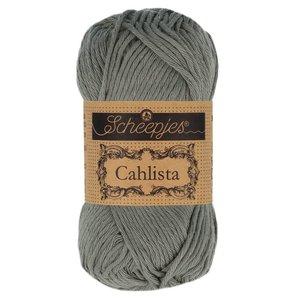 Hilo de algodón Scheepjes Cahlista 242 Metal Grey