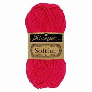 Hilo de algodón Scheepjes Softfun 2654 Magenta