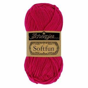 Hilo de algodón Scheepjes Softfun 2655 Cerise