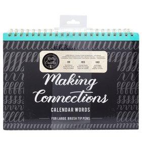 Bloc Making Connections Calendar Words para rotuladores gruesos