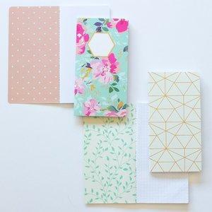 Set 2 cuadernos tamaño personal Carrotcake Flores