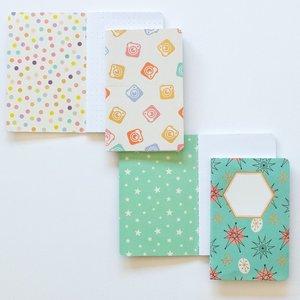 Set 2 cuadernos tamaño passport Carrotcake Cámaras