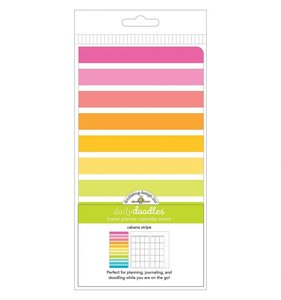 Inserto Calendario para midori Doodlebug Cabana Stripe