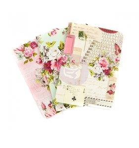 Set 4 cuadernos Misty Rose para midori tamaño Passport