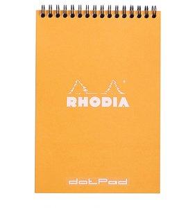 Cuaderno de puntitos A5 Rhodia Naranja con espiral