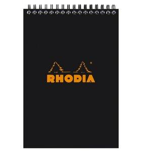 Cuaderno de puntitos A5 Rhodia Negro con espiral