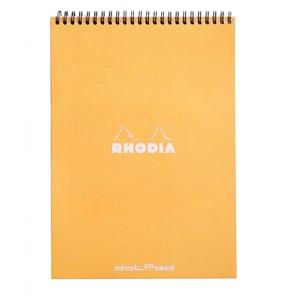 Cuaderno de puntitos A4 Rhodia Naranja con espiral