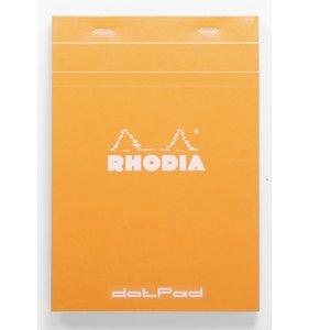 Cuaderno de puntitos A5 Rhodia Naranja grapado