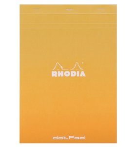Cuaderno de puntitos A4 Rhodia Naranja grapado