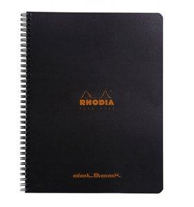 Cuaderno de puntitos A4+ Rhodia Negro con espiral