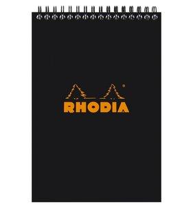 Libreta de puntitos A6 Rhodia Negro con espiral