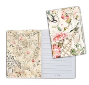 Cuaderno A5 Notebook Roses and Little Birds