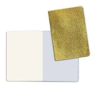 Cuaderno A5 Notebook Stone Paper Plain Pages Cover Gold