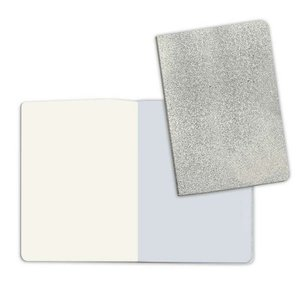 Cuaderno A5 Notebook Stone Paper Plain Pages Cover Silver