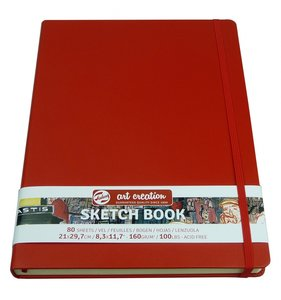 Cuaderno para Art Journal rojo 21x29,7 cm