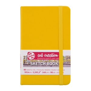 Block tapa dura Talens Sketchbook Golden Yellow 9x14 cm