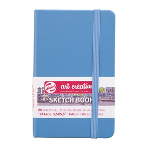Block tapa dura Talens Sketchbook Lake Blue 9x14 cm