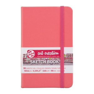 Block tapa dura Talens Sketchbook Coral Red 9x14 cm