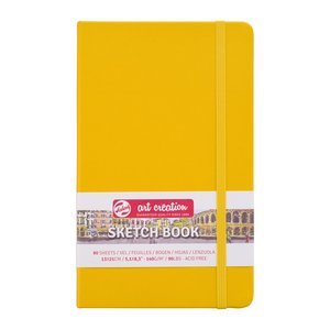 Block tapa dura Talens Sketchbook Golden Yellow 13x21 cm