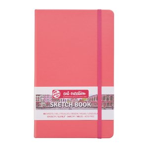 Block tapa dura Talens Sketchbook Coral Red 13x21 cm