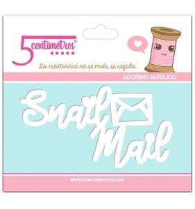 Adorno acrílico 5 Centímetros Snail Mail