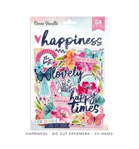 Die cuts Happiness