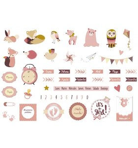 Die cuts Little Girl Gold