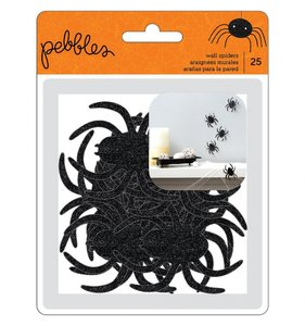 Arañas de purpurina autoadhesivas Spooky Boo