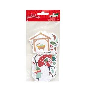 Die cuts de ilustraciones Merry Little Christmas