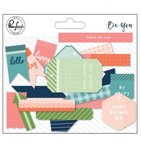 Die cuts de tela Be you