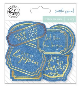 Die Cuts de tela Pinkfresh Simple & Sweet