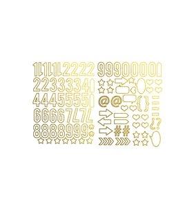 Die Cuts Gold Metallic Numbers