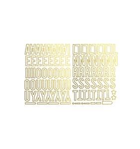 Die Cuts Gold Metallic Vowels