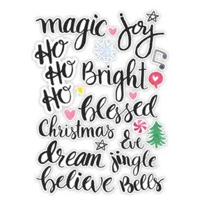 Die Cuts Jingle Bells Words