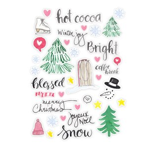 Die Cuts Snow & Hot Cocoa