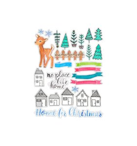 Die Cuts Home for Christmas
