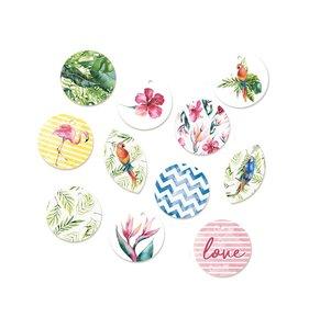 Tags círculos Let's Flamingle