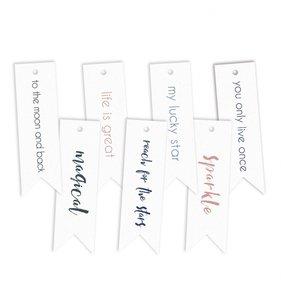 Tags banderolas con mensaje New Moon