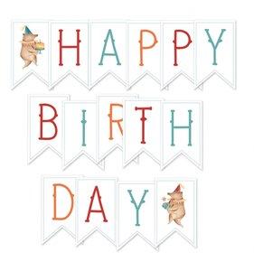 Banderolas para guirnalda Happy Birthday 1