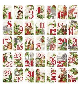 Die Cuts Numbers Tags Simple Vintage Christmas