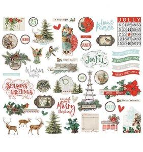 Die Cuts Simple Vintage Country Christmas