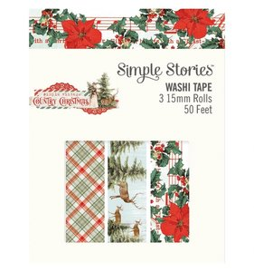 Set de washi tapes Simple Vintage Country Christmas