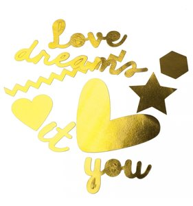 Die Cuts Love It Gold Foil