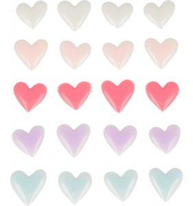 Enamel hearts Lovely Swan
